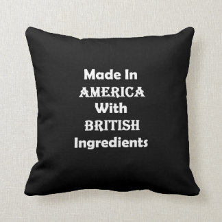 Made In America With British Ingredients Throw Pillow