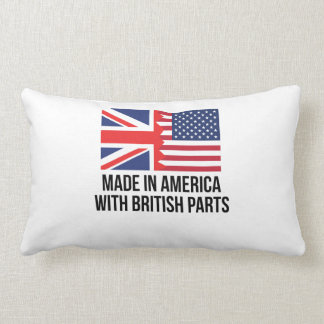 Made In America With British Parts Throw Pillow