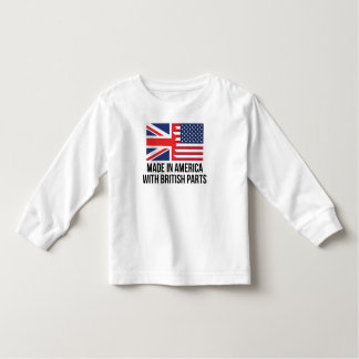 Made In America With British Parts Toddler T-shirt