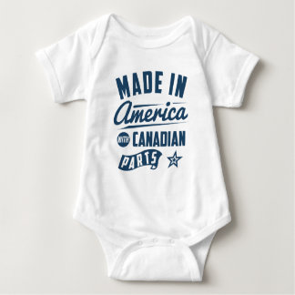 Made In America With Canadian Parts Baby Bodysuit
