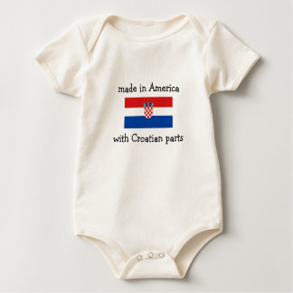made in America with Croatian parts Baby Bodysuit