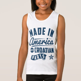 Made In America With Croatian Parts Tank Top