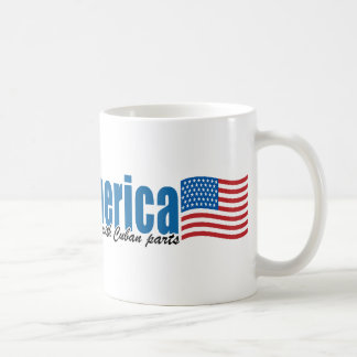 Made in America with Cuban parts Classic White Coffee Mug