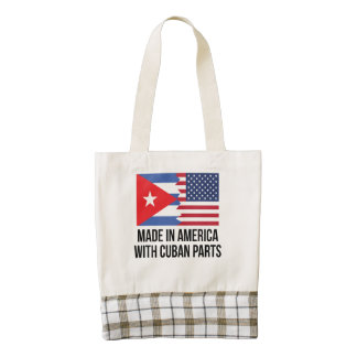 Made In America With Cuban Parts Zazzle HEART Tote Bag