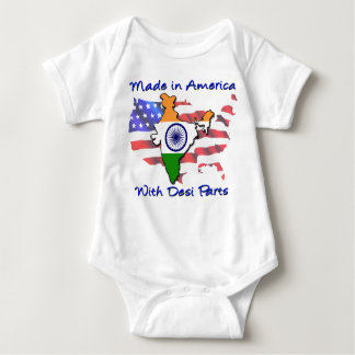 Made in America with Desi Parts Baby Bodysuit