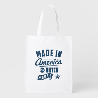 Made In America With Dutch Parts Reusable Grocery Bag