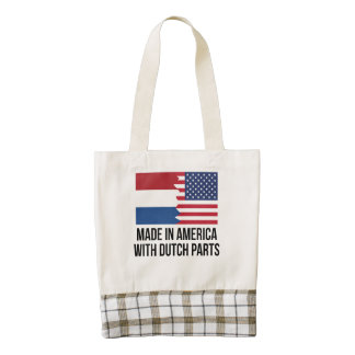 Made In America With Dutch Parts Zazzle HEART Tote Bag
