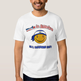 Made in America with El salvadorian part's T-shirt