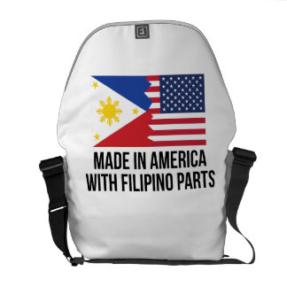 Made In America With Filipino Parts Courier Bag
