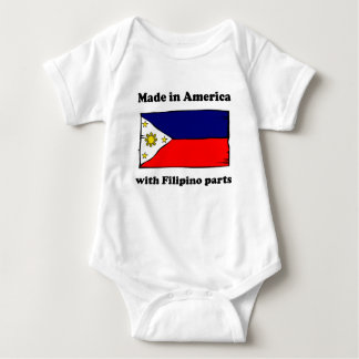Made In America With Filipino Parts Tee Shirts