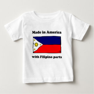 Made In America With Filipino Parts T Shirt