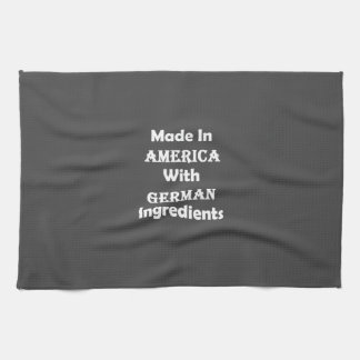 Made In America With German Ingredients Hand Towel