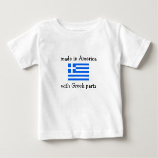 made in America with Greek parts Baby T-Shirt