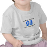 made in America with Greek parts T-shirts