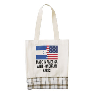 Made In America With Honduran Parts Zazzle HEART Tote Bag