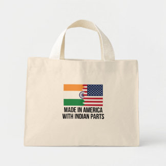 Made In America With Indian Parts Mini Tote Bag