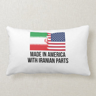 Made In America With Iranian Parts Throw Pillow