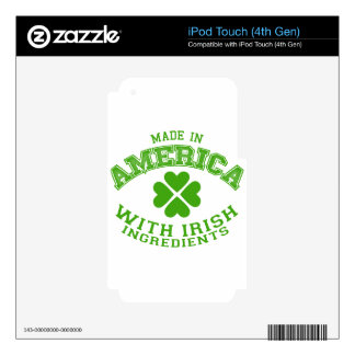 Made in America with Irish ingredients iPod Touch 4G Skin