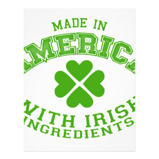 Made in America with Irish ingredients Letterhead