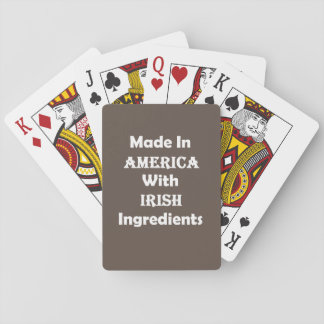 Made In America With Irish Ingredients Playing Cards