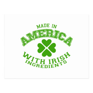 Made in America with Irish ingredients Postcard