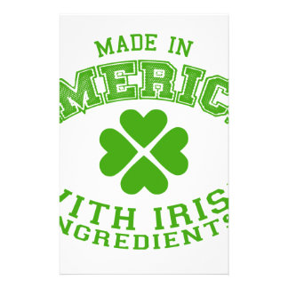 Made in America with Irish ingredients Stationery