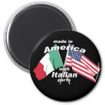 Made In America With Italian Parts 2 Inch Round Magnet