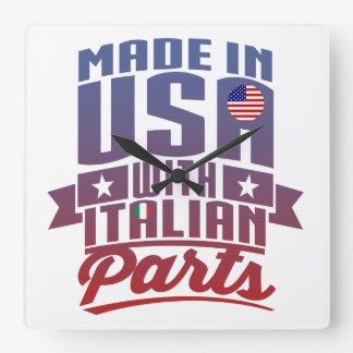 Made In America With Italian Parts Square Wall Clock