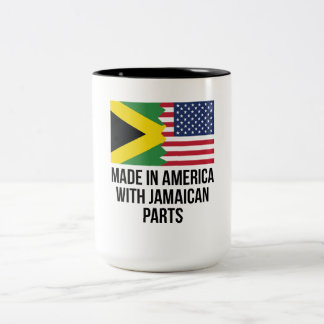 Made In America With Jamaican Parts Two-Tone Coffee Mug