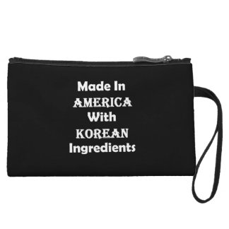 Made In America With Korean Ingredients Wristlet
