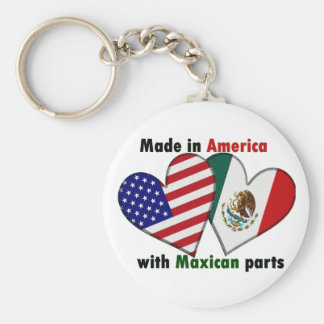 made in america with mexican parts keychain