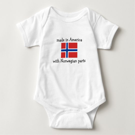 made in America with Norwegian parts Baby Bodysuit