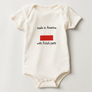 made in America with Polish parts Baby Bodysuit