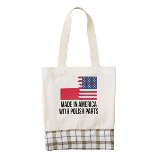Made In America With Polish Parts Zazzle HEART Tote Bag