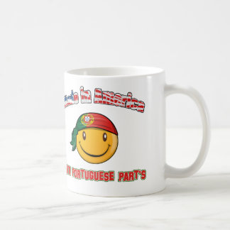 Made in America with Portuguese part's Classic White Coffee Mug