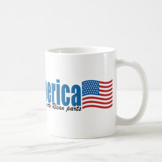 Made in America with Puerto Rican parts Coffee Mug