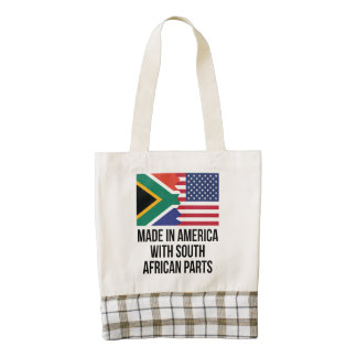 Made In America With South African Parts Zazzle HEART Tote Bag