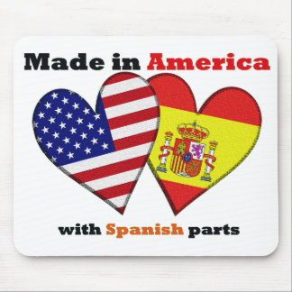 made in america with spanish parts mouse pad