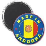 made in andorra country flag label refrigerator magnet