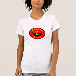made in angola country flag label tshirt