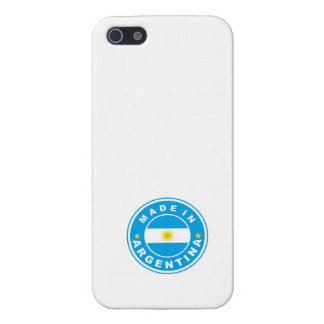 made in argentina country flag label case for iPhone SE/5/5s