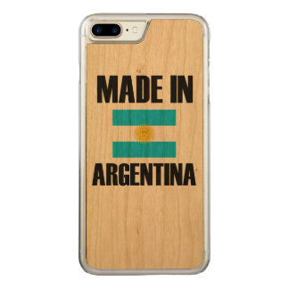 Made In Argentina Flag Carved iPhone 7 Plus Case