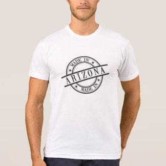 Made In Arizona Stamp Style Logo Symbol Black Tee Shirts