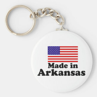 Made in Arkansas Basic Round Button Keychain