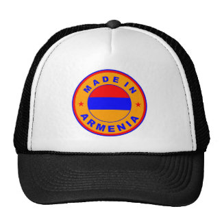 made in armenia country flag label trucker hat