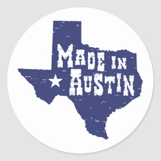 Made in Austin Classic Round Sticker