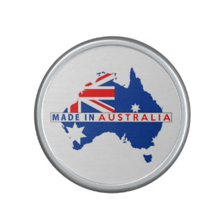 made in australia country map flag product label bluetooth speaker