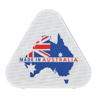 made in australia country map flag product label speaker