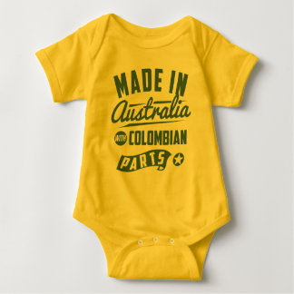 Made In Australia With Colombian Parts Baby Bodysuit