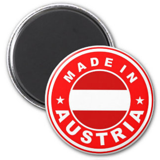 made in austria country flag label magnet